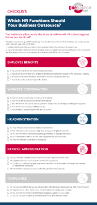 Which HR Functions Should Your Business Outsource?